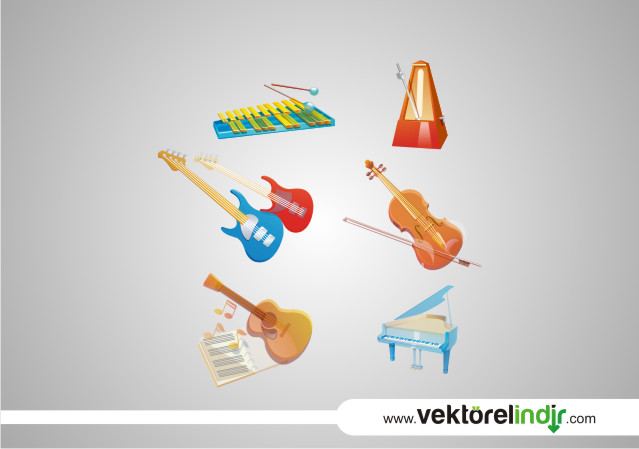 Gitar, Keman, Piyano, Müzik Aletleri