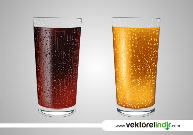 Meyve Suyu (Vişne, Kayısı) Bardağı