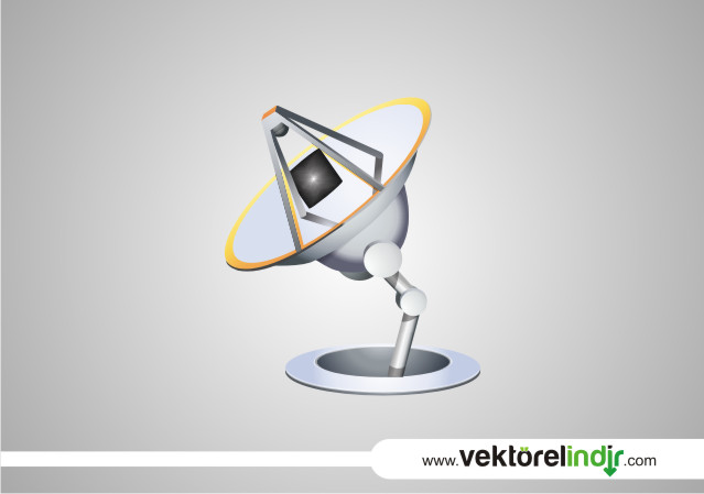 Uydu Alıcısı Vektörel