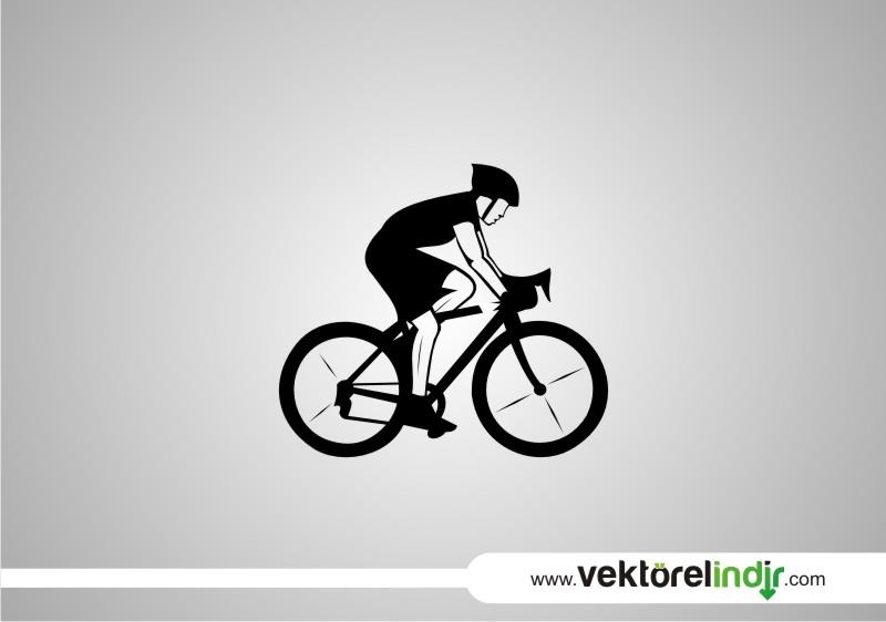 Vektörel Bisikletli Sporcu