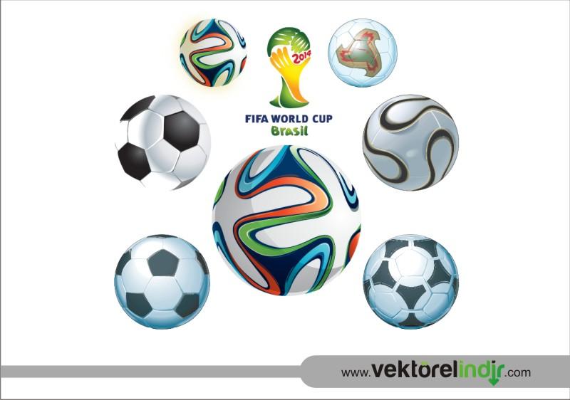 Vektörel Futbol Topu, Fifa, 2014, Brezilya