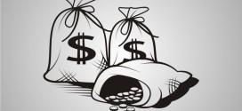 Vektörel Para Çuvalı