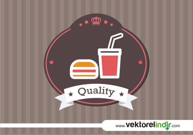 Yiyecek -İçecek (Fast Food) Vektörü