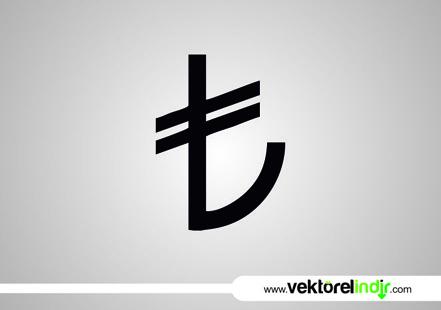 türk lirası logo vektör