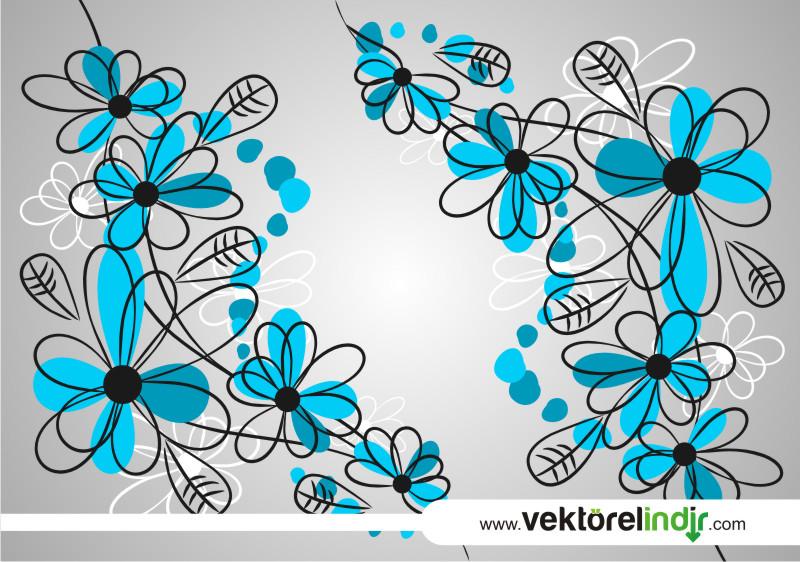 Çiçekler, Papatya, Mavi Çiçek