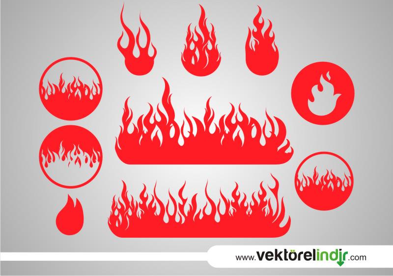 Ateş, Alev, Vektörel, Çizim, Grafik