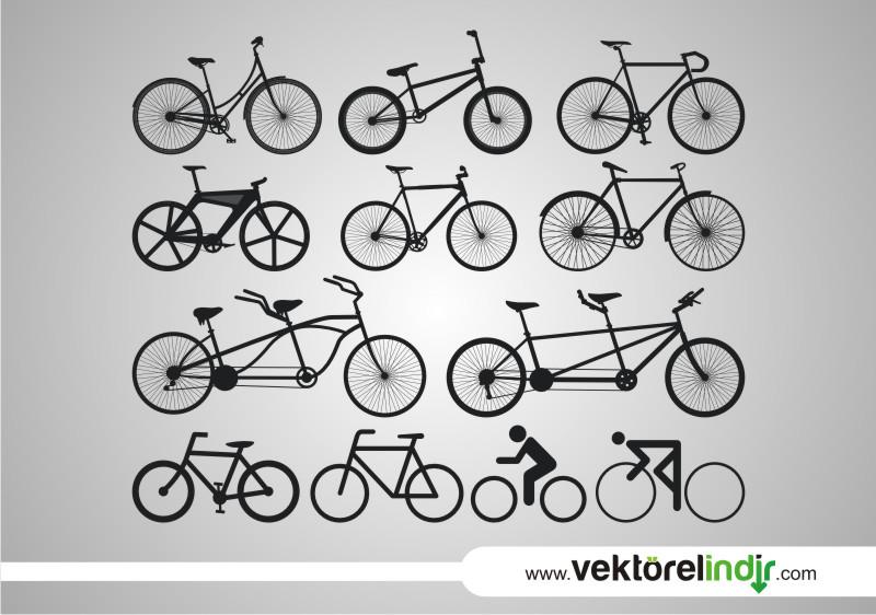 Bisiklet Çizimleri, Çizim Hali, Çift Kişilik Bisiklet