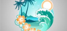 Deniz, Yaz Martı, Tatil Vektörü
