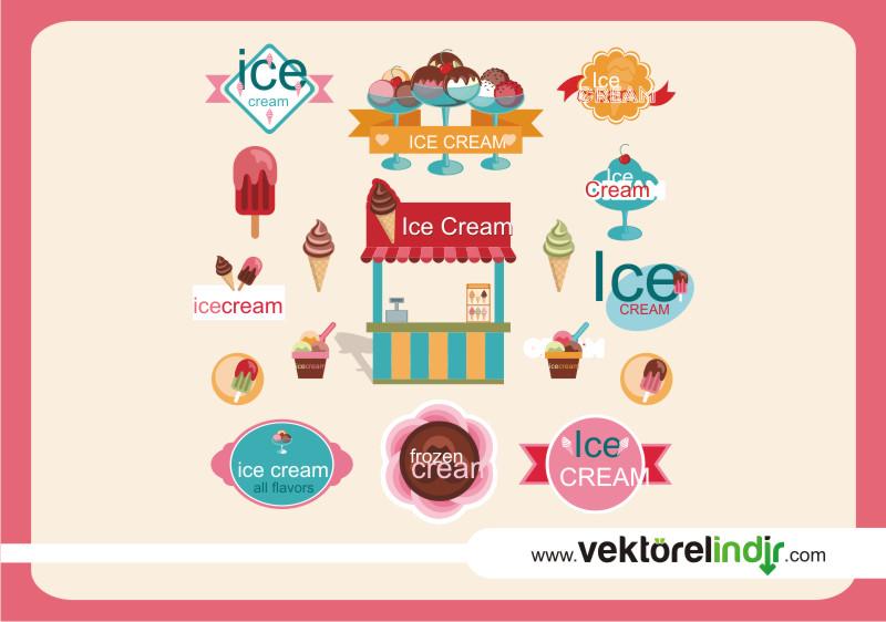 Dondurma, Krema, Logo, Soğuk