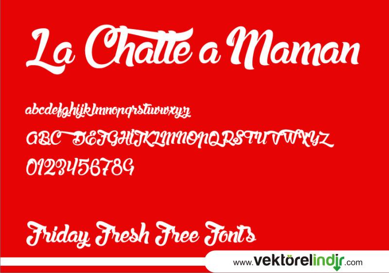 La Chatte a Maman Font