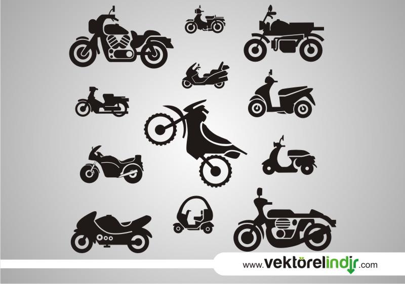 Motorsiklet, Motor İkon, Çizim, Silület
