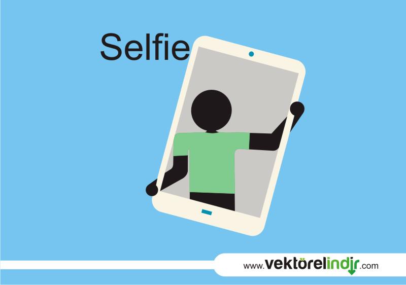 Selfie, Çizim, Vektörel