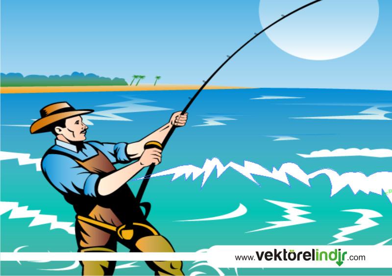 Vektörel Balıkçı, Deniz, Balık
