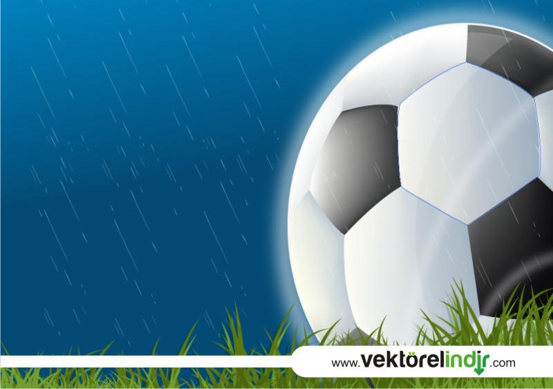 Vektörel Futbol Topu