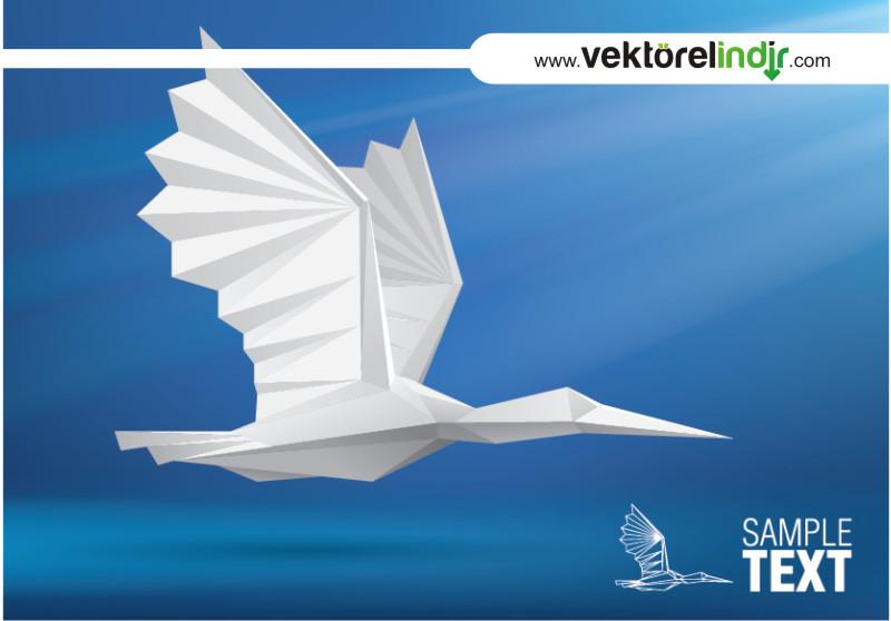 Vektörel Kağıt Uçak