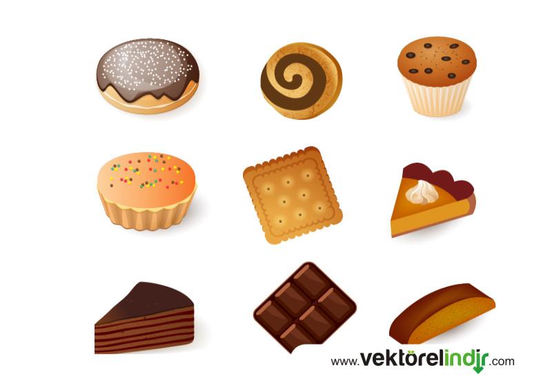 Kek, Pasta, Çikolata