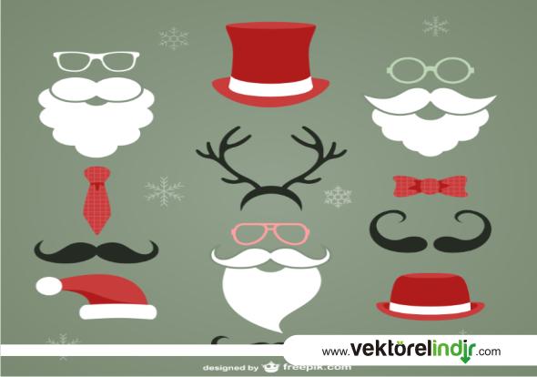 Noel Baba, Vektörü, Çizim, Geyik