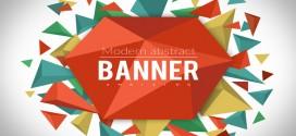 Üçgenler, Soyut Resim, Vektörel Afiş, Banner