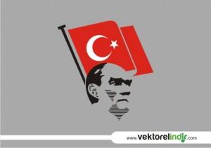 Türk Bayrağı vektörel, Bayrak Çizim, Atatürk