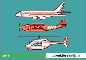 Uçak, Helikopter, Hava