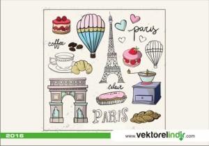 Paris,Pasta,Kahve,Figür