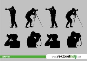 Fotoğrafçı Vektörel, fotoğraf vektörel çizim