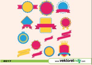 Renkli Rozetler, Rozet, Tasarım Elemanı, Ribbon2
