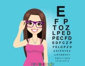 Göz Derece Testi Gözlük