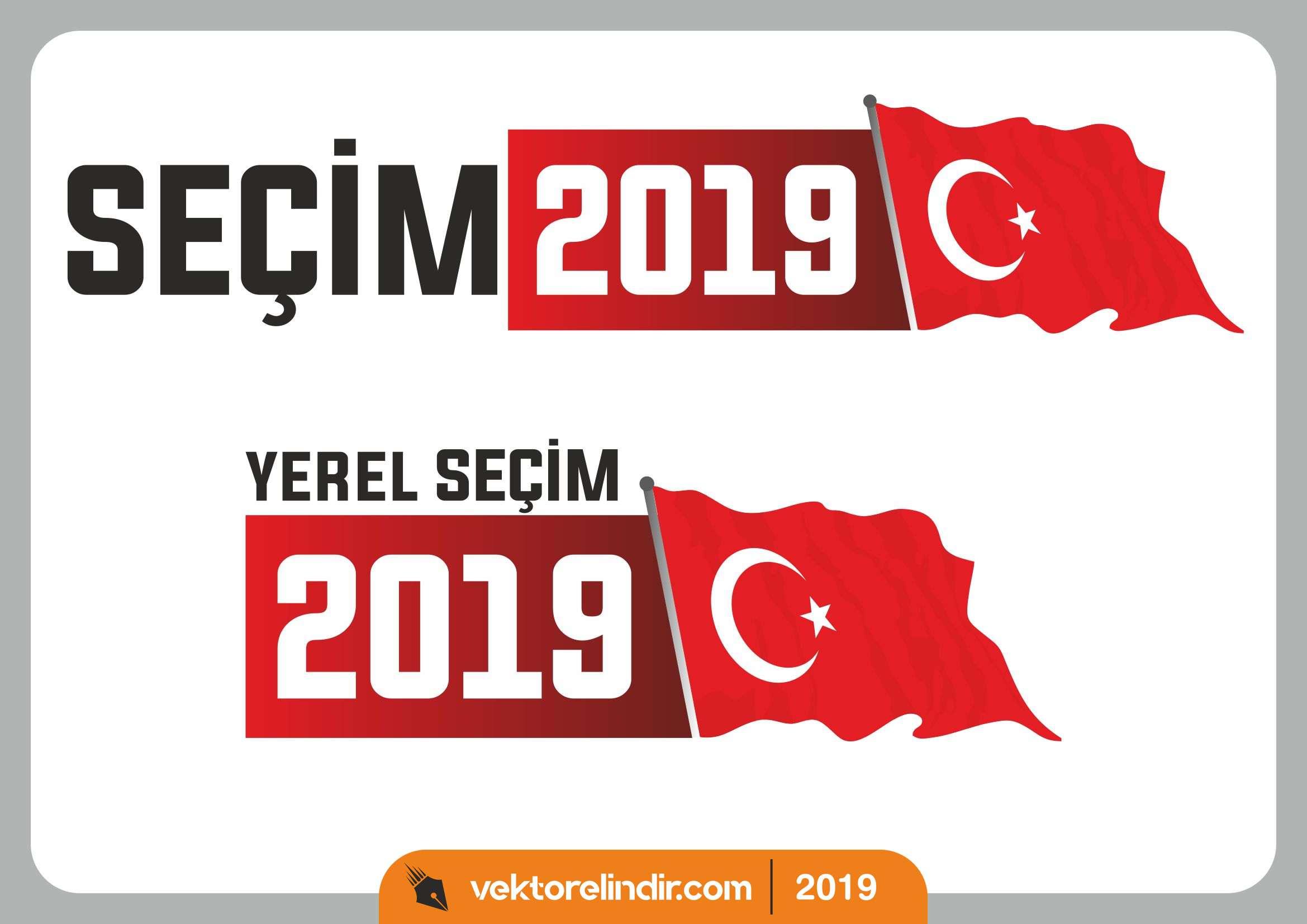 2019 Yerel Seçim, Seçim Logo, Vektörel