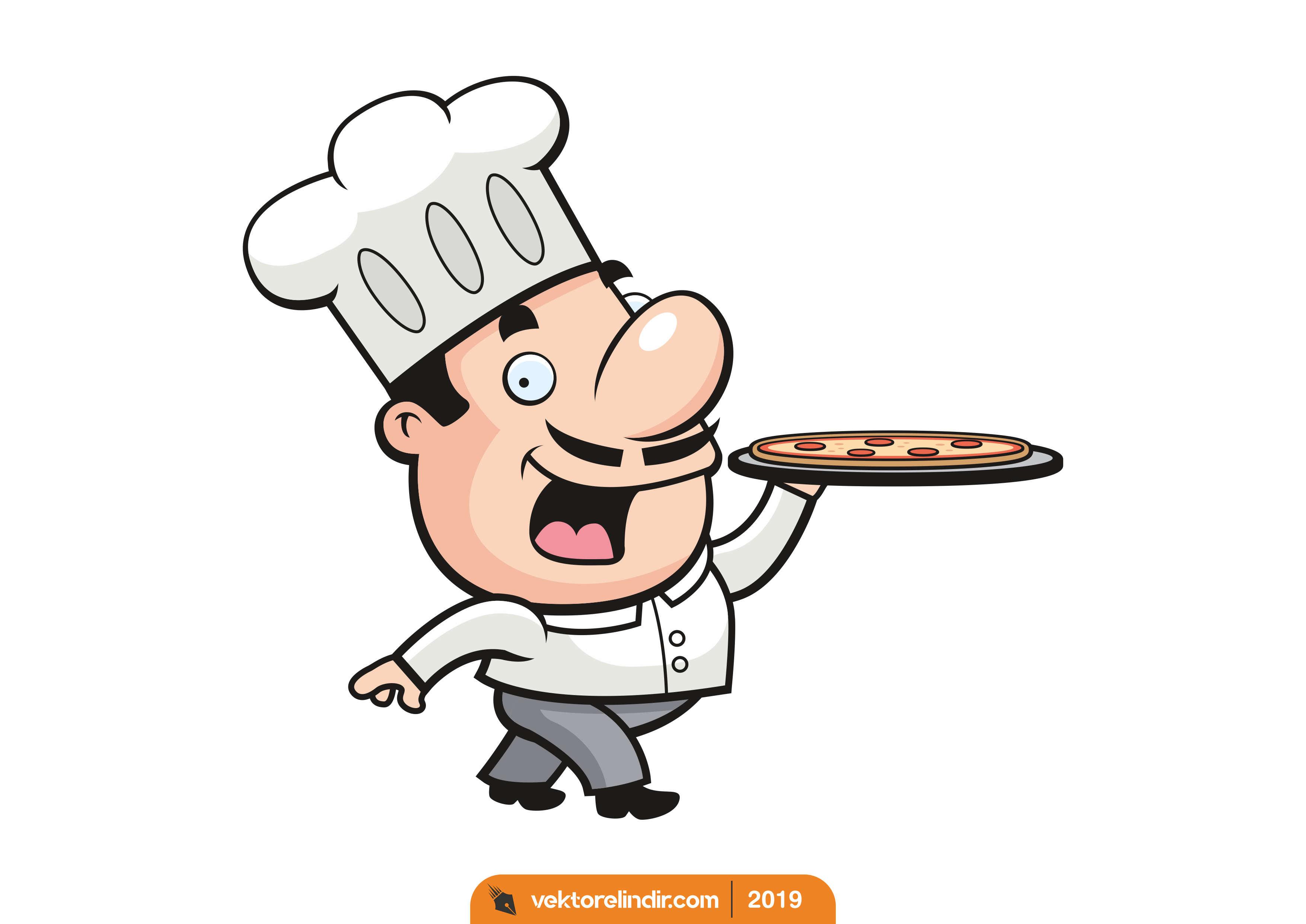 Aşçı Vektörel, Şef, Pizza