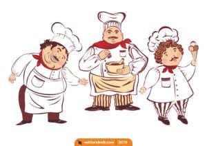 Aşçı, Yemek, Şef, Usta Vektörel