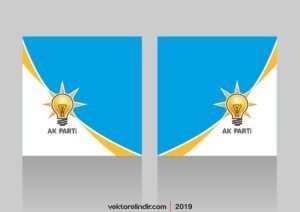 Ak Parti Vektörel Logo Bantlı
