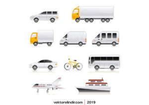 Araçlar, Araba, Bisiklet, Uçak, Gemi