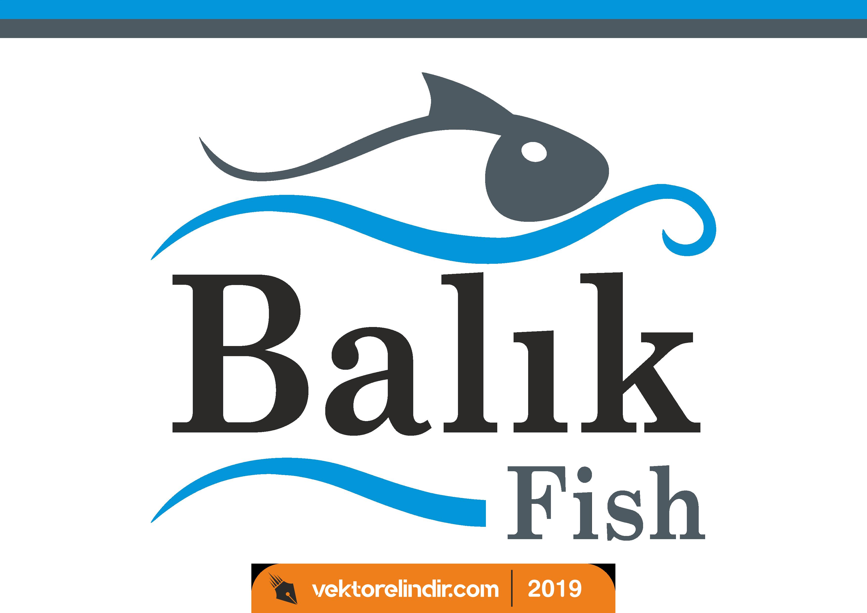 Balık Logo, Balık Fish, Amblem, Vektörel