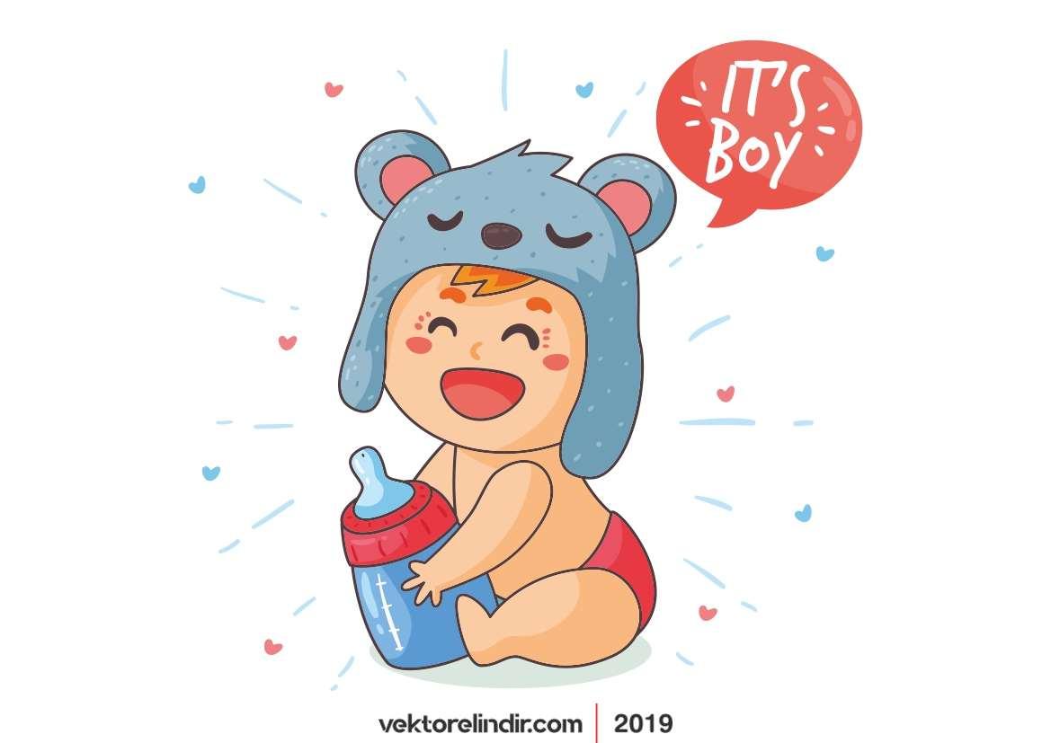 Bebek Çizim, Duş, Baby Shower