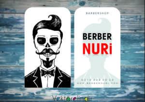 Berber Kartvizit Şablon, Berber Çizim İndir