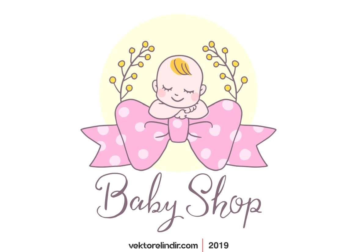 Ellek Çizilmiş Bebek Vektör, Baby Shower