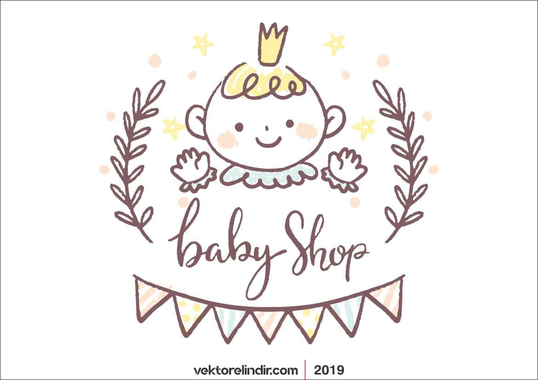 Güzel Bebek Çizim, Vektörel, Baby Shower 2