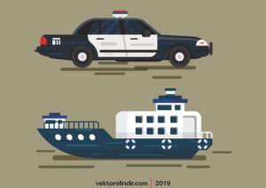 Gemi, Polis, Araç, Polis Arabası