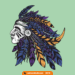 Kızılderili Sticker, Etiket, Çizim