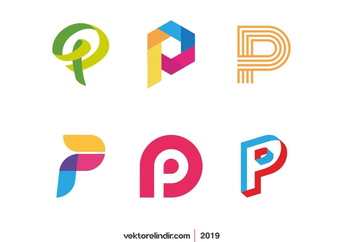 P Logo, Kurumsal Logo, Renkli Yaratıcı Logolar