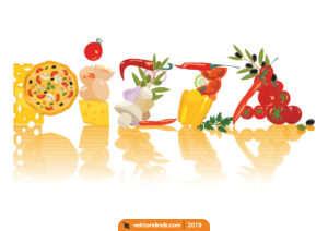 Pizza Logo, Pizza Yazı, Malzemeler