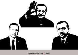 Recep Tayyip Erdoğan Vektör, Siluet Başkan
