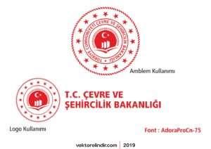 T.C. Çevre ve Şehircilik Bakanlığı Yeni Logo 2018 Vektörel