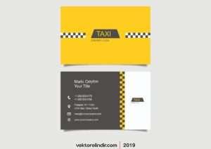 Taksi Kartvizit, Taksi Logo, Taksi Vektörel