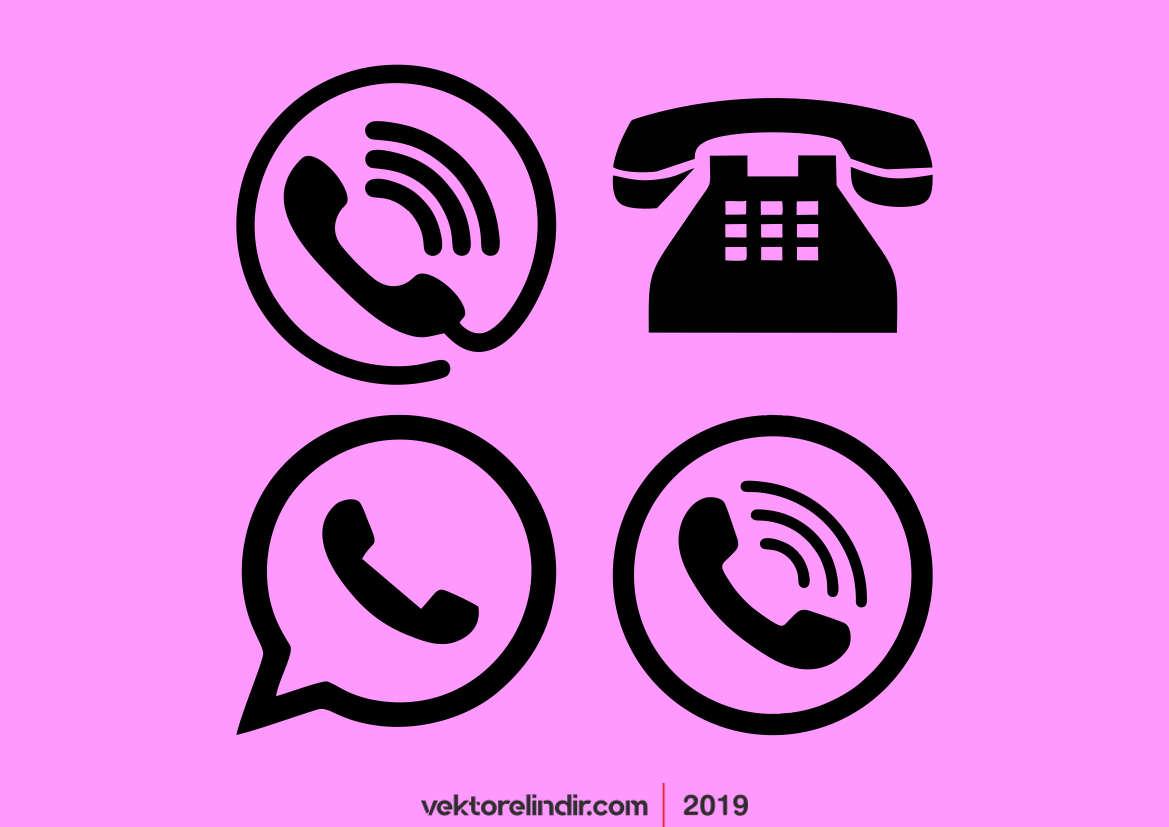 Telefon Logo, Telefon İcon, Cep, Sabit, Vektörel