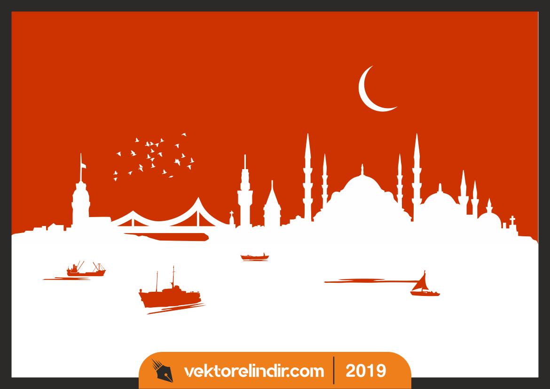 İstanbul Silüet, Çizim, Vektörel Çizim