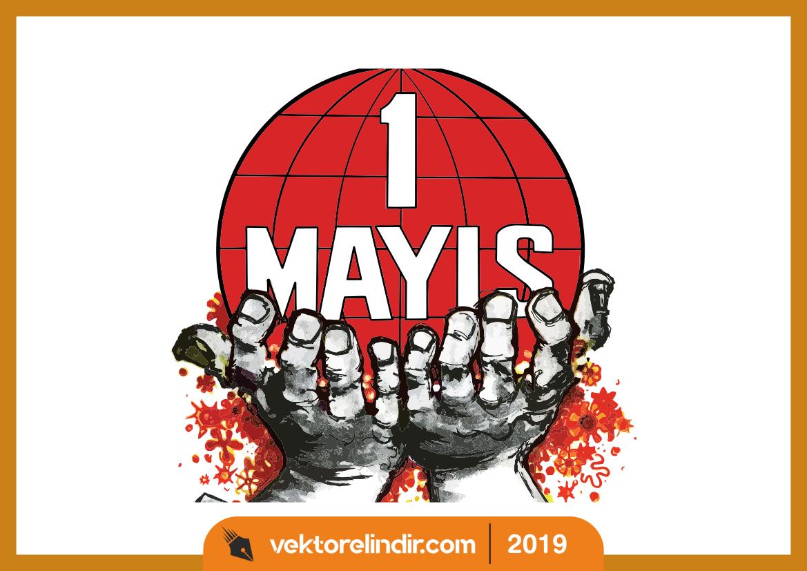 1 Mayıs Logo, İşçi Bayramı, Vektörel