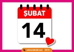 14 Şubat, Sevgililer Günü, Vektörel, Amblem