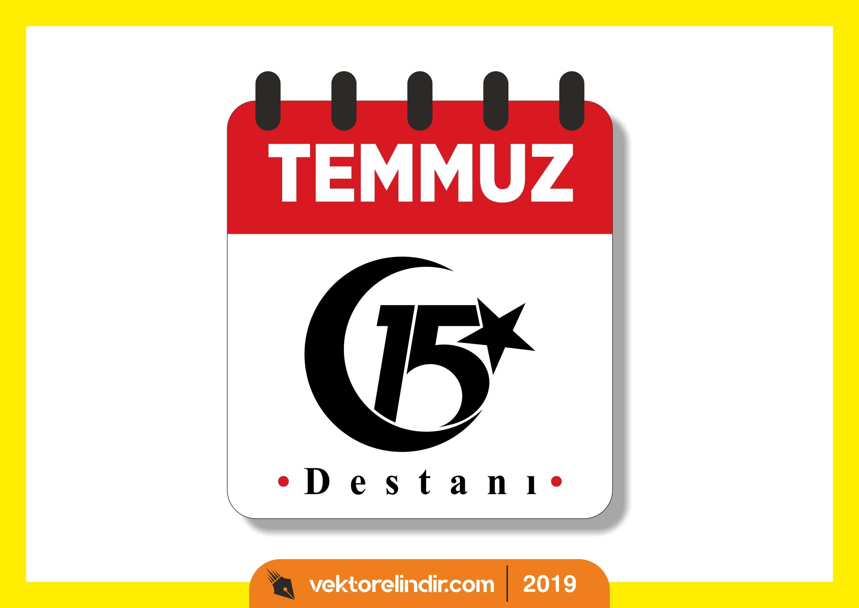 15 Temmuz Destanı Vektörel, Logo, Takvim